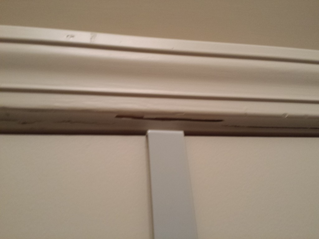 Crack inside - on door frame